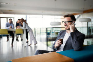 Cool Business Man Sitting Relaxed At Desk